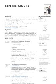 Video Editor Freelance Contractor Resume samples