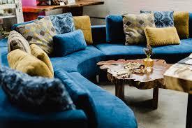 teal blue furniture. Cocoon 2 Sectional In Blue Velvet Teal Furniture I