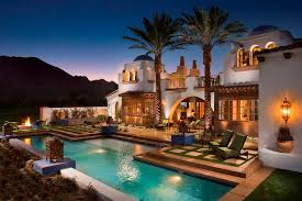hacienda u shaped house plans with courtyard pool