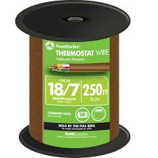 Southwire 250 Ft 18 7 Brown Solid Cu Cl2 Thermostat Wire