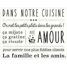 Stickers Cuisine Texte 70cm Noir Paris Prix Pas Cher à Prix Auchan