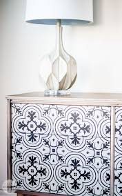 Diy modern vintage furniture makeover Spray Paint Awesome Diy Mcm Dresser Buffet Makeover Using Vintage Cement Tile Pattern Love Custom Paint Yourself Smile Diy Mcm Buffet Makeover Paint Yourself Smile