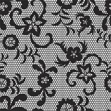 lace black seamless pattern with flowers on white background vinyl wall mural themes