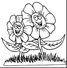 Spring Flower Coloring Pages For Toddlers Printable Coloring Page