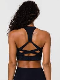 Onzie Yoga Wear Warrior Bra Black Removable Cups