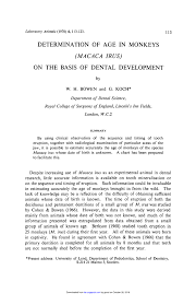 Pdf Determination Of Age In Monkeys Macaca Irus On The