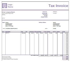 Gst Invoice Format In Excel Word And Pdf For Services With