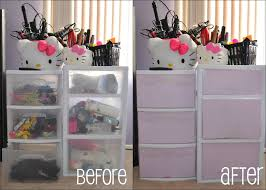 easy diy decorate your makeup containers