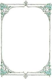 vintage frame border. Leafy Clip Art Border -frame From An Antique Book. Blue Leaves And Green Twigs In The Frame. Vintage Frame R