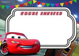 lightning mcqueen birthday invitations free printable disney cars lightning mcqueen mater birthday