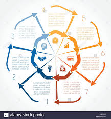 Colour Arrows Infographic For Seven Positions Possible To Use For
