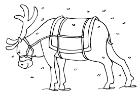 Small Picture Reindeer Coloring Pages Coloring Kids