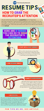 Important Resume Tips Resume Tips How To Grab The Recruiters Attention The University