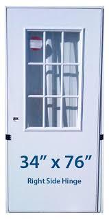 mobile home front doorsMobile Home Cottage Door 34x76 RH Right Hand Hinge Doors with Window