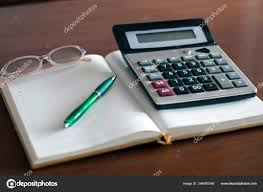 Household Expenses Calculator Calculator Pen Sheet Household Expenses Concept Stock