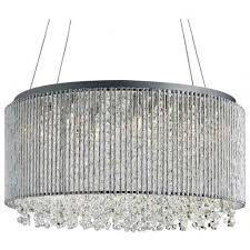 searchlight beatty 8 light crystal ceiling pendant in chrome finish 4048 8cc