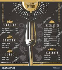 Abstract Menu Design Restaurant Menu Design Abstract Menu Layout Stock Vector