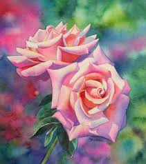 watercolor rose painting demonstration