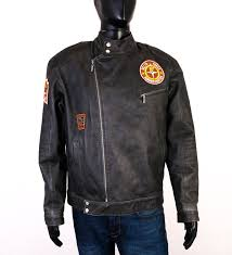 details about john f gee mens leather jacket ramones size xl