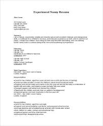 Examples Of Nanny Resumes Best Nanny Resume Sample Simple Nanny Resume Example Resume Writing Guide
