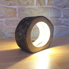 Hollow Log Bedside Lamp Table Lamps