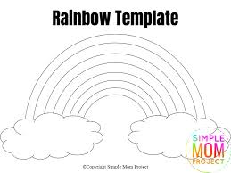 Make sure you share it with your family and friends (or the teachers in your life even) if they happen to be looking for rainbow themed designs and patterns! Free Printable Rainbow Templates In Large And Small Simple Mom Project