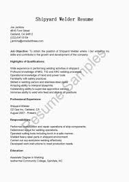 Welder Cover Letter Fabulous Resume Samples Shipyard Welder Resume