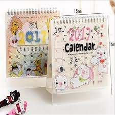 2017 lovely table calendar diy calendar planner check list desk organizer school office supply kawaii desk calender in calendar from office school