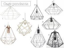 cage lighting pendants. rose gold wire pendant light 2399 6 black metal cage 3599 7 grey 8 lighting pendants
