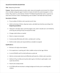Babysitter Job Description for Resume
