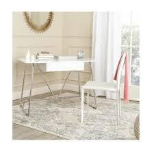 chrome office desk. chrome office desk new safavieh contemporary malloy writing home in white finish o