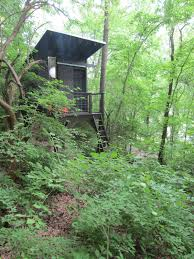 a modern tree house tiny stilt house in tennessee