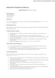 Sample Computer Programmer Resume Programmer Resume Example Skinalluremedspa Com