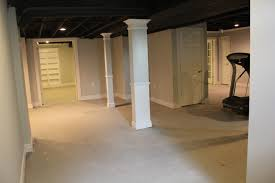 Basement Remodel With Painted Exposed Ceiling - Finish basement walls without drywall