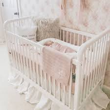 pink crib bedding mackenlee faire