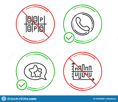 Parking Place Call Center And Star Icons Set Diagram Chart