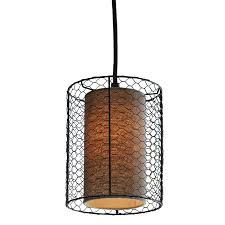 Cooper Lighting Lowes Decor Therapy Cooper Bronze With Natural Burlap Single