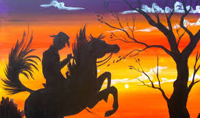 Easy Painting Easy Acrylic Painting Cowboy At Sunset The Art Sherpa Youtube