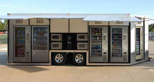 Vending Machine Trailer Gorgeous Carts Blanche And Jofemar Deliver Moveable Vending Machines