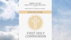 Customise impressive <b>First Communion</b> invitations video templates.