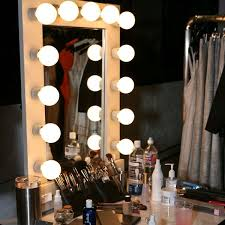 free standing makeup mirror with lights
