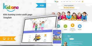 Kids School Website Template Play School Templates From Themeforest