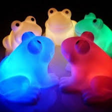 Frog Lights Led Cute Magic Led Night Lights Frog Shape Colorful Changing Lamp Room Bar Decor Ebay