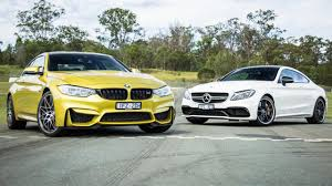 BMW Convertible bmw vs mercedes drift : BMW M4 Competition v Mercedes-AMG C63 S Coupe track comparison