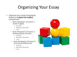 compare and contrast essay ppt video online  organizing your essay organize your body paragraphs based on subject to subject comparison