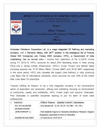 mba jobs in hpcl studychacha for your help i am attaching a giving a pdf file it so you can get details for recruitment of officer trainees qc operations hr and officers is