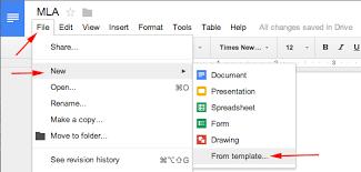 Mla Format Templates Mla Format Using Google Docs Mlaformat Org
