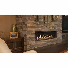 linear gas fireplace. Echelon II Majestic Linear Direct Vent Fireplace - Close Up Gas F