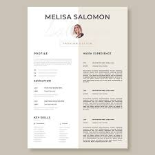 Creative And Professional Resume Template In Microsoft Word. Cv With ...