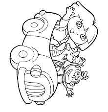 Small Picture Dora the Explorer Coloring Pages 5 Coloring Kids